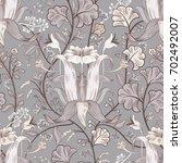 floral vintage seamless pattern.... | Shutterstock .eps vector #702492007