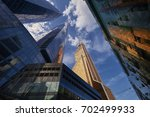 view on moscow biggest business ... | Shutterstock . vector #702499933