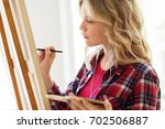 art school  creativity and... | Shutterstock . vector #702506887