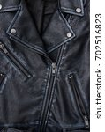 close up of black leather... | Shutterstock . vector #702516823