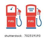filling station gas fuel pump... | Shutterstock .eps vector #702519193