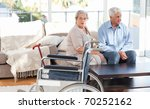 lovely retired couple talking... | Shutterstock . vector #70252162