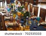 wedding decorations | Shutterstock . vector #702535333
