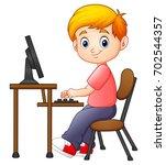 vector illustration of little... | Shutterstock .eps vector #702544357