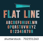 alphabet type set of letters... | Shutterstock .eps vector #702551263