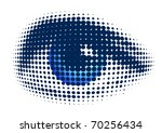 blue eye - stock vector