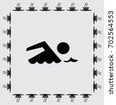 swimming vector icon sign | Shutterstock .eps vector #702564553