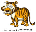 wild tiger with dizzy eyes... | Shutterstock .eps vector #702575527