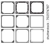 set decorative frames and... | Shutterstock .eps vector #702576787