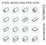 vector line icon of steel pipe... | Shutterstock .eps vector #702580453