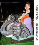 lord ganesha statue  idol. made ... | Shutterstock . vector #702584593