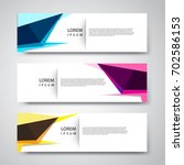 vector set abstract geometric... | Shutterstock .eps vector #702586153