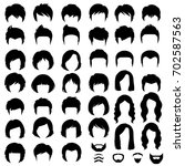 woman and man hair  vector... | Shutterstock .eps vector #702587563