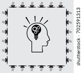 pictograph of bulb concept ... | Shutterstock .eps vector #702591313