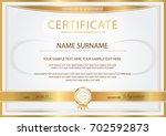 certificate  diploma of... | Shutterstock .eps vector #702592873