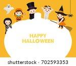 children who make a costume of...   Shutterstock .eps vector #702593353