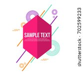 collection abstract geometric...   Shutterstock .eps vector #702599233