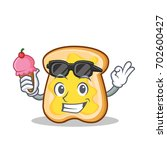 with ice cream slice bread... | Shutterstock .eps vector #702600427