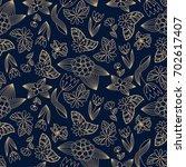 floral seamless pattern.... | Shutterstock .eps vector #702617407