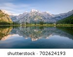 sunset at the almsee in gruenau ...