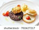 gourmet burger | Shutterstock . vector #702627217