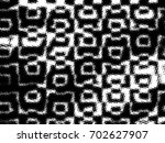 grunge halftone black and white.... | Shutterstock . vector #702627907