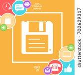 floppy disk icon   Shutterstock .eps vector #702629317