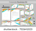 corporate identity or business...   Shutterstock .eps vector #702641023