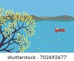 mountain green valley landscape....   Shutterstock .eps vector #702692677