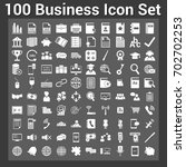 business finance icon set | Shutterstock .eps vector #702702253