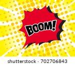 comic boom text sound effect.... | Shutterstock .eps vector #702706843