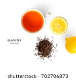 creative layout made of cup of... | Shutterstock . vector #702706873