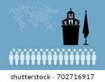 robot president and artificial... | Shutterstock .eps vector #702716917