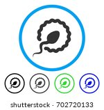 sperm penetration rounded icon. ...   Shutterstock .eps vector #702720133