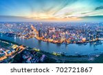 aerial view of ho chi minh city ...   Shutterstock . vector #702721867