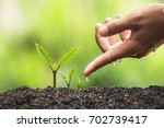 plant a tree | Shutterstock . vector #702739417
