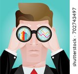 business vision concept... | Shutterstock .eps vector #702743497