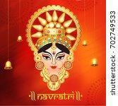 illustration of happy navratri... | Shutterstock .eps vector #702749533