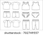 sketch clothing  baby body... | Shutterstock .eps vector #702749557