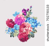 Stock photo blooming flowers the leaves and flowers art design 702750133