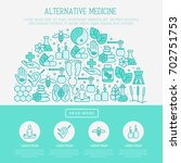 alternative medicine concept in ... | Shutterstock .eps vector #702751753