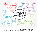 project management mind map... | Shutterstock .eps vector #702762733