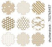 japanese pattern vector. gold... | Shutterstock .eps vector #702765457