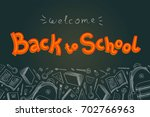 back to school doodles in... | Shutterstock .eps vector #702766963