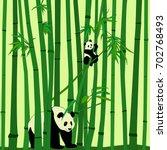 vector drawing of panda family... | Shutterstock .eps vector #702768493