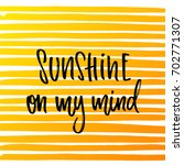 vector trendy hand lettering... | Shutterstock .eps vector #702771307