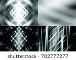 set of abstract dark grey... | Shutterstock . vector #702777277