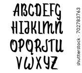 vector alphabet. calligraphic... | Shutterstock .eps vector #702783763