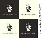 coffee shop set | Shutterstock . vector #702784573