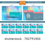 desk calendar 2018 vector... | Shutterstock .eps vector #702791503